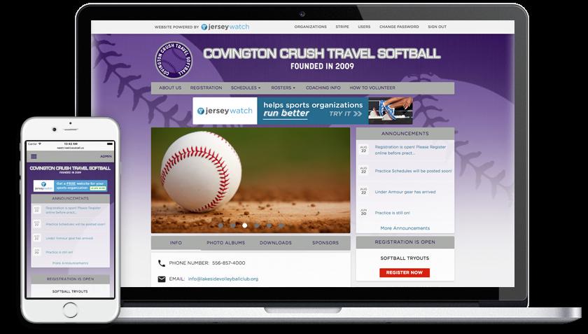softball example sites