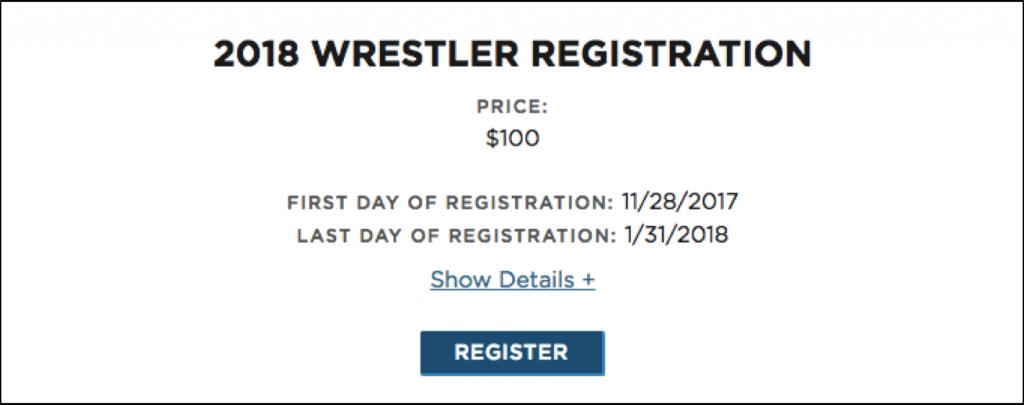 wrestling online registration