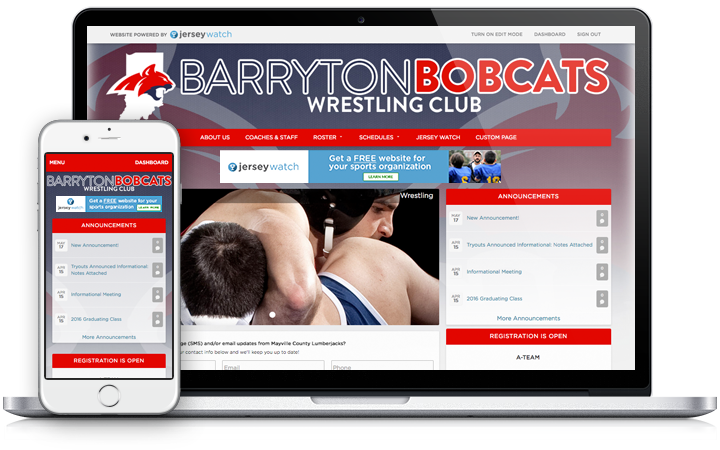 wrestling website build