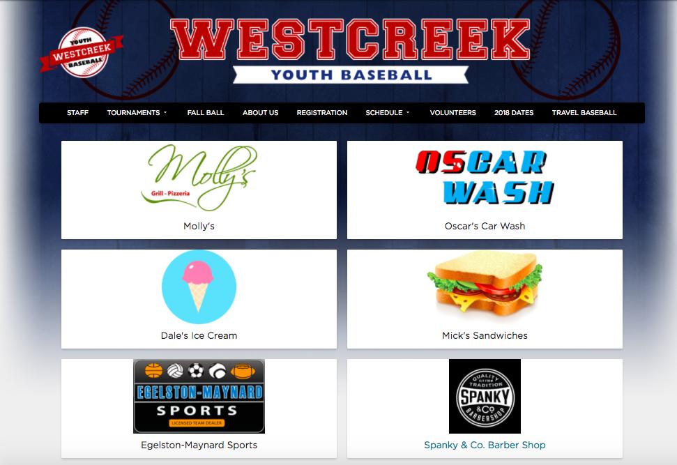 youth baseball sponsors