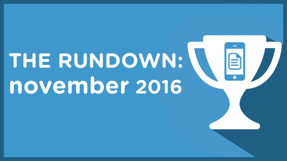 The Rundown: November 2016