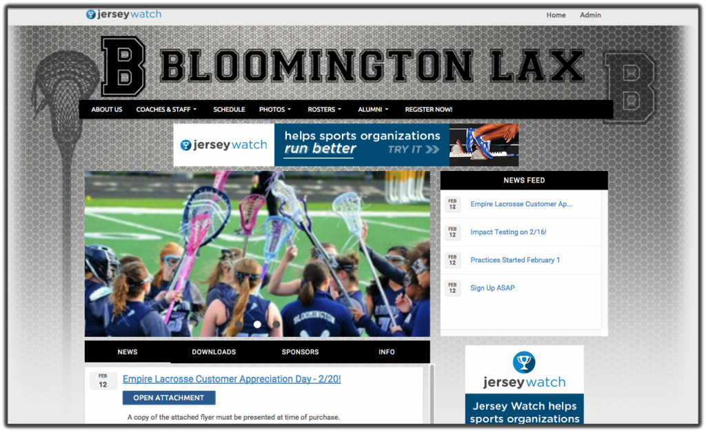 Bloomington Lacrosse Website