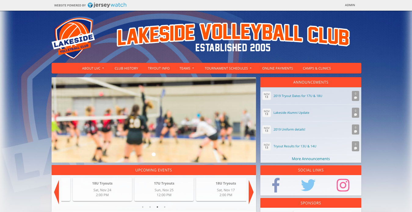 How to build a club volleyball website