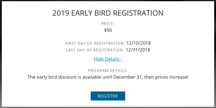 a registration discount for youth sports